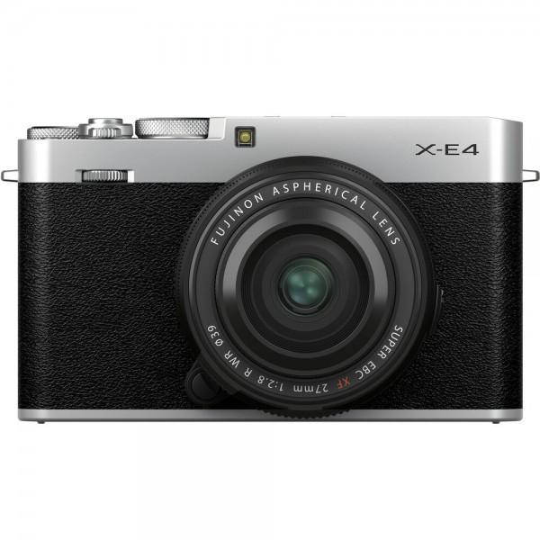 Fujifilm X-E4 silber + 27/2,8 WR