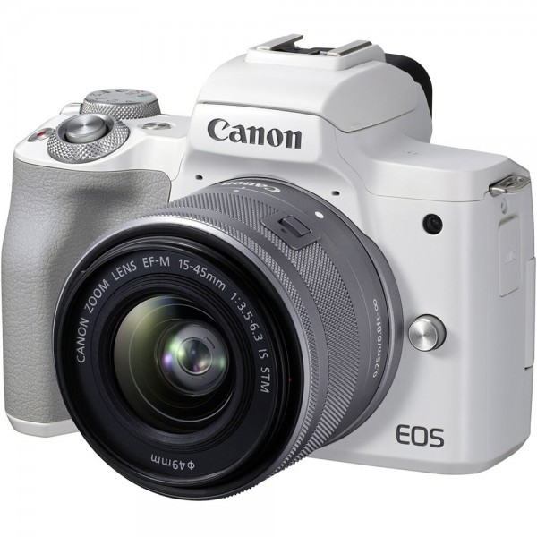 Canon EOS M50 Mark II weiß + EF-M 15-45mm IS STM