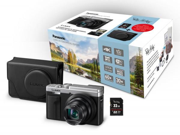 Lumix TZ-96 silber+Tasche+32GB
