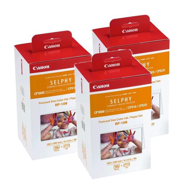 Canon RP-108 IP 3er Pack Papier für Selphy CP Drucker