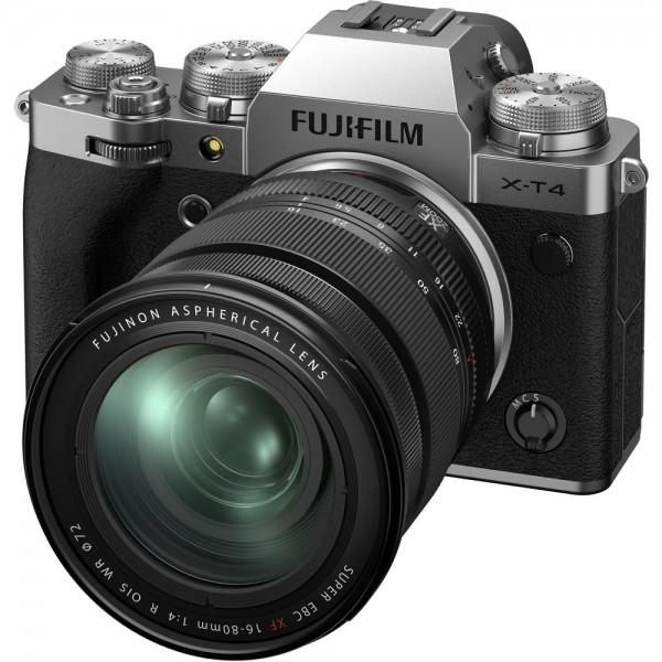 Fujifilm X-T4 Body silber + XF 16-80/4 - Jetzt 200,- sparen