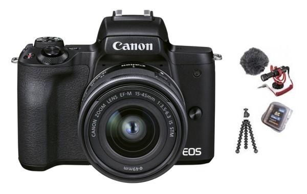 Canon EOS M50 II schwarz Vlogger Kit