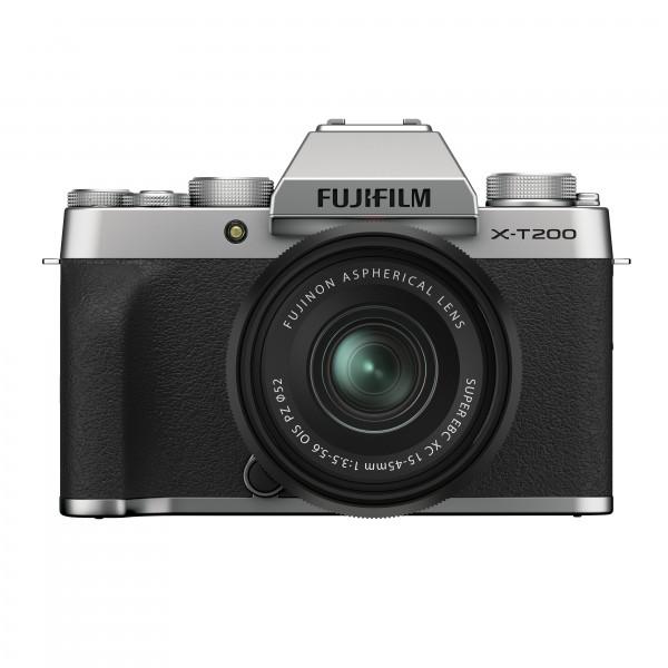 FUJIFILM X-T200 + XC15-45mm silber Kit