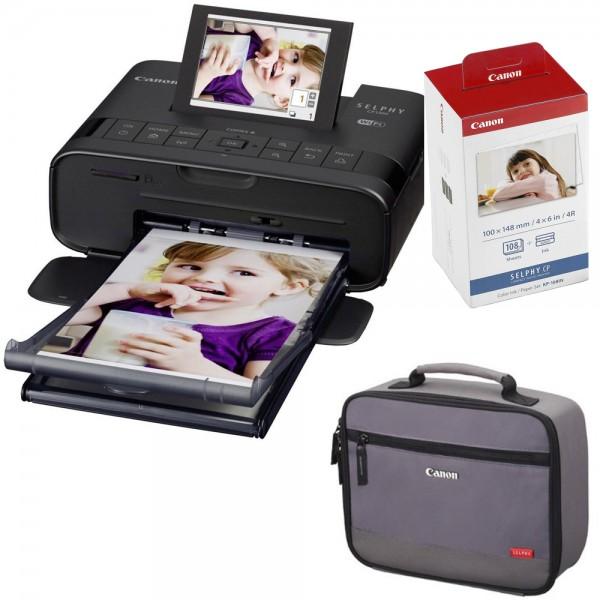 Canon CP1300 schwarz+108 Blatt/Folie+graue Tasche