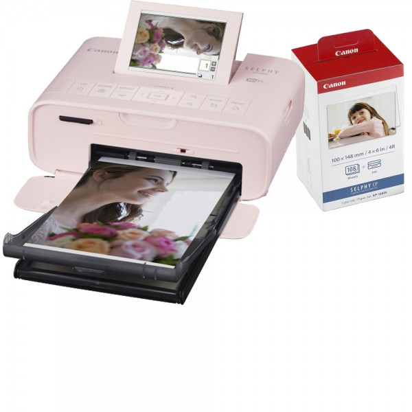 Canon CP1300 pink/rosa + 108 Blatt/Folie