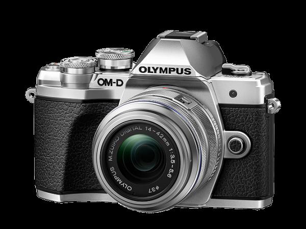 Olympus E-M10 Mark III silber + 14-42mm II R + 40-150mm