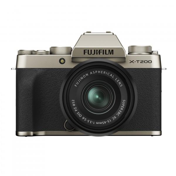 FUJIFILM X-T200 + XC15-45mm gold Kit