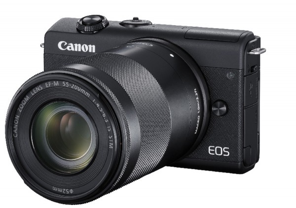Canon EOS M200 +15-45 +55-200 schwarz